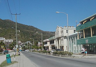 Road Town - Image: Road Town BVI Waterfront Drive