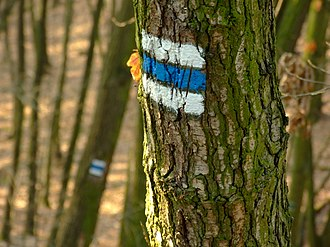 Freedom to roam - Czech Hiking Markers System for trail blazing has been adopted in Central Europe and elsewhere