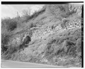 Rock retaining wall from wood stave pipe, looking north - Ogden Canyon Conduit, Ogden, Weber County, UT HAER UTAH,29-OGCA,2-5.tif
