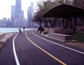 Roller skater passes the Chess Pavilion in Lincoln Park along Lake Michigan, Chicago, Illinois LCCN2011636343.tif