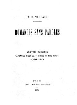 Image illustrative de l'article Romances sans paroles (Verlaine)