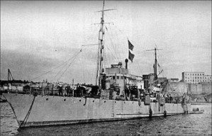 NMS Sublocotenent Ghiculescu - Image: Romanian gunboat Sublocotenent Ghiculescu