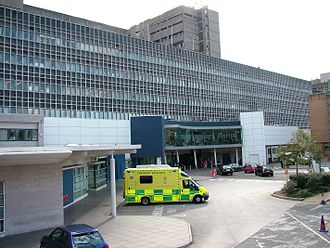 Royal Liverpool University Hospital - Main Entrance and Emergency Department at the existing Royal Liverpool University Hospital (completed in 1978)