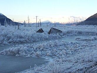 Portage Glacier Highway - Image: Ruinsofportage