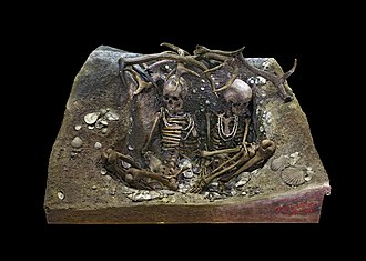 Microlith - Two skeletons in the Tomb of Téviec