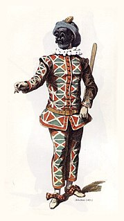 Harlequin character from the Commedia dellarte
