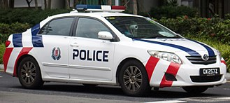 Singapore Police Force - Toyota Corolla Altis wearing the new Singapore Police Force livery
