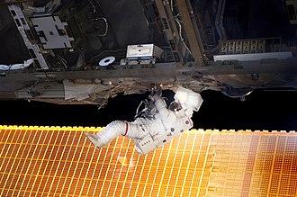 Soichi Noguchi - Soichi Noguchi on his first spacewalk.
