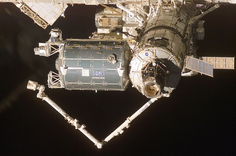 ESA Columba module docked to the ISS