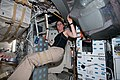 STS-133 Nicole Stott on the middeck.jpg