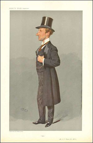"Samuel Thomas Evans - ""Sam"", caricature by Spy in Vanity Fair in 1908."