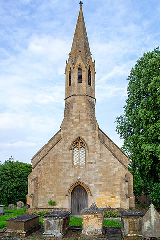 Built in 1841, St Peter's in Stretton-on-Fosse in the Cotswolds is a Grade II listed building. ST PETERS STRETTON 8218.jpg