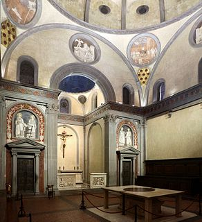 Sagrestia Vecchia building in borough 1 of Florence, Italy
