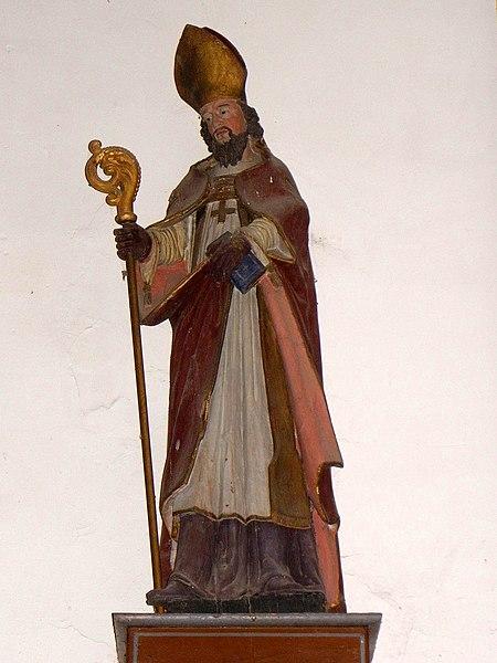 Chapelle des Haies en Saint-Berthevin-la-Tannière (53). Saint évêque.