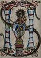 Saint Francis Borgia on a pedestal between two columns, Wellcome V0031998.jpg