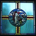 Saint Mary Catholic Church (Gatlinburg, Tennessee) - stained glass, Christ pulls Peter from the sea.jpg