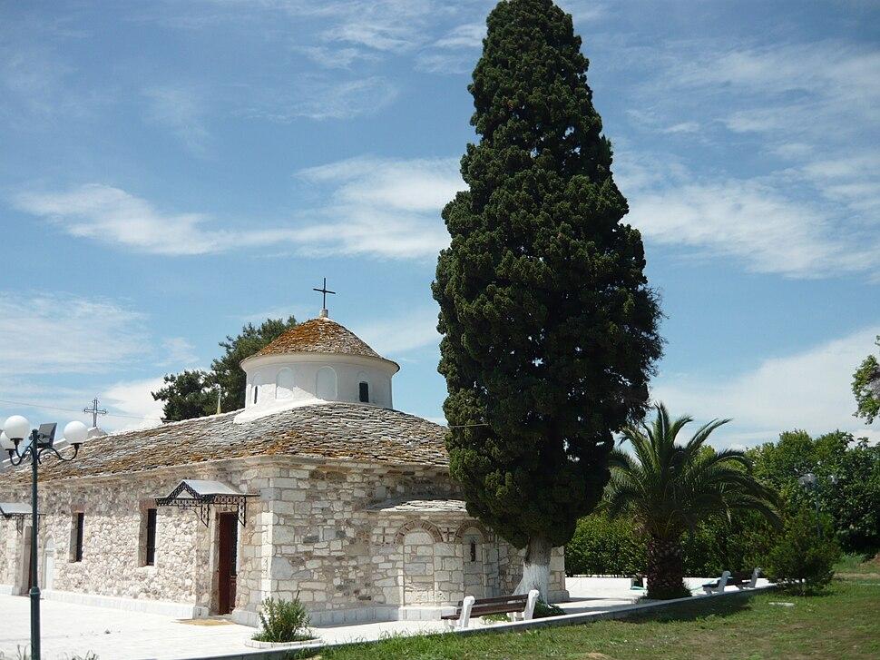 Saint Nicholas Church in Limenas, Thasos from SE