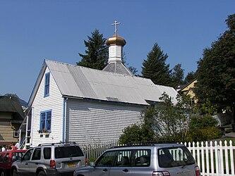 Saint Nicholas Russian Orthodox Church, Downtown Juneau, Alaska.jpg