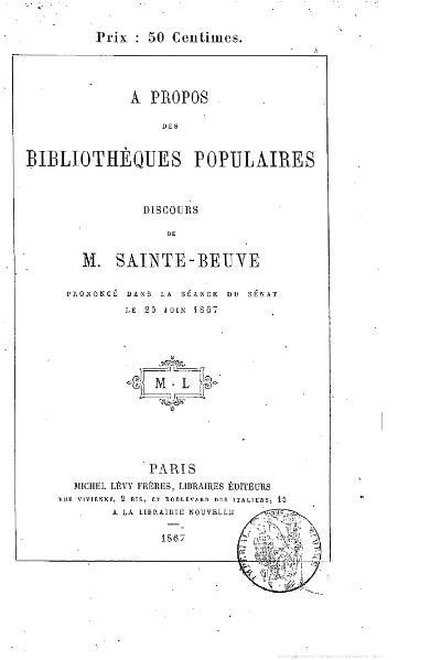 File:Sainte-Beuve - À propos des bibliothèques populaires, 1867.djvu
