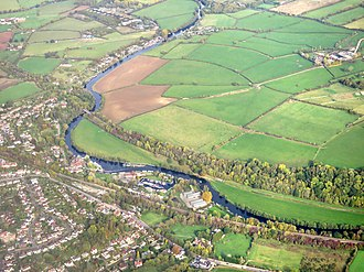 Saltford - Aerial view of Saltford and the river Avon