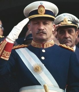 Juan Carlos Onganía de facto President of Argentina from 29 June 1966 to 8 June 1970
