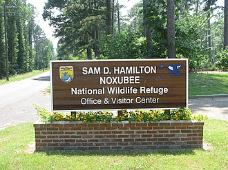 Sam D. Hamilton Noxubee National Wildlife Refuge - Image: Sam D. Hamilton Noxubee sign (7420064372)