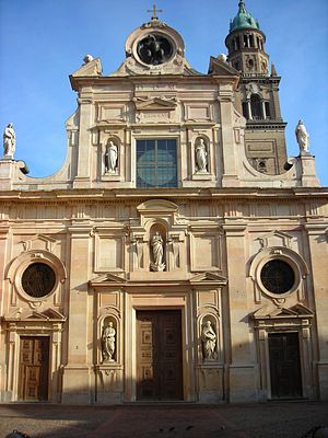 San Giovanni Evangelista (Parma) - Façade of the church.