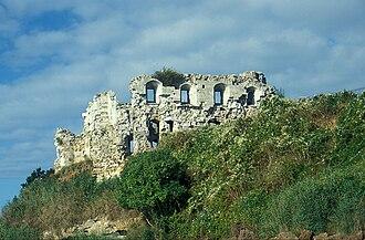 Sandsfoot Castle - The castle overlooking the cliffs, 1998