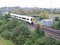 Sandwich bound train crossing the Richborough Road - geograph.org.uk - 568826.jpg