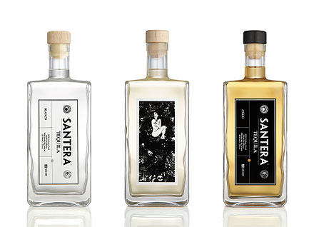A variety of tequila colors Santera Tequila.jpeg