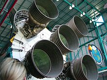 The Saturn V rocket engines.