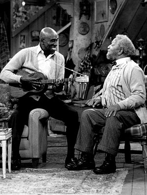 Scatman Crothers - Crothers appearing with Redd Foxx on Sanford and Son