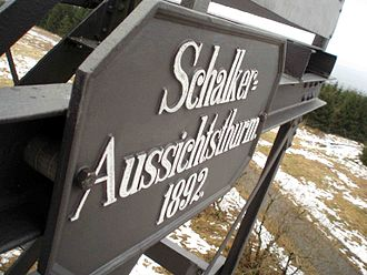 Schalke (Harz) - Plaque on the Schalke observation tower