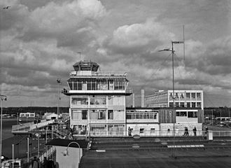 Amsterdam Airport Schiphol - The air traffic control tower at Schiphol in 1960