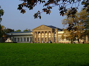 State Museum of Natural History Stuttgart - Rosenstein Palace, the museum's exhibition building for extant animals and ecology. View from the castle gardens