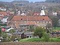 Schloss Sonderburg mit der kleinen Stadtmühle (Bymøllen) vom westlichen Hang bei den Düppeler Schanzen aus, am 18. April 2014, Bild 01.JPG