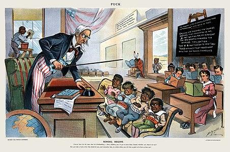 School Begins (Puck Magazine 1-25-1899)