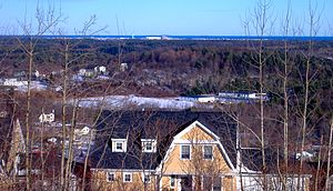 Seabrook Station Nuclear Power Plant - Seabrook Station seen from Powwow Hill in nearby Amesbury, Massachusetts