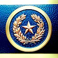 Seal of the Republic of Texas on the Entry Doors to the Lorenzo de Zavala Building.jpg
