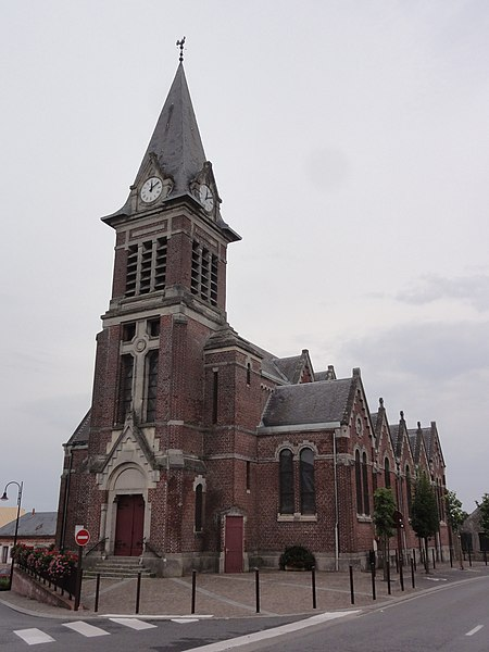 Seboncourt (Aisne) église
