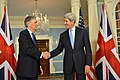 Secretary Kerry Shakes Hands With British Foreign Secretary Hammond (22734762420).jpg