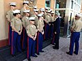 Secretary Kerry and the U.S. Embassy Baghdad Marine Corps Detachment.jpg