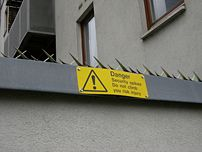 Security spikes protect a gated community in t...