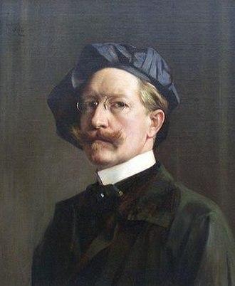 Hubert Vos - Self-portrait of Hubert Vos in 1922