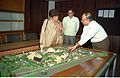 Selja Inspecting Science City Model - Science City Site Office - Calcutta 1994-02-17 179.JPG