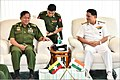Senior General Min Aung Hlaing Commander-in-Chief Myanmar Armed Forces interacting with Vice Adm HCS Bisht FOC-in-C ENC.jpg