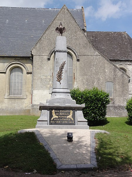 Serain (Aisne) monument aux morts