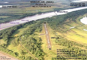 Shageluk Airport - Image: Shageluk Airport FAA photo