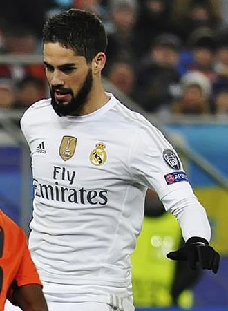 Isco - Isco playing for Real Madrid in 2015.