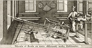 Projector - Scheiner's helioscope as illustrated in his book Rosa Ursina sive Sol (1626-30)